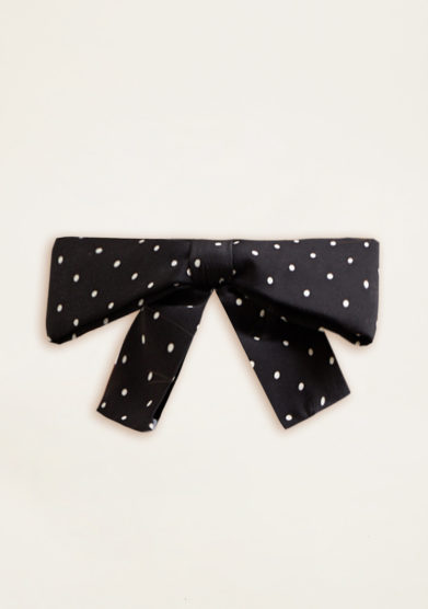 VERNISSE - Chloe hairbow in micro pois b&w