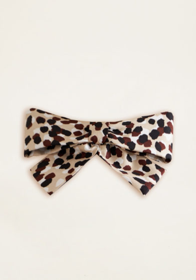 VERNISSE - Chloe hairbow in desert animalier