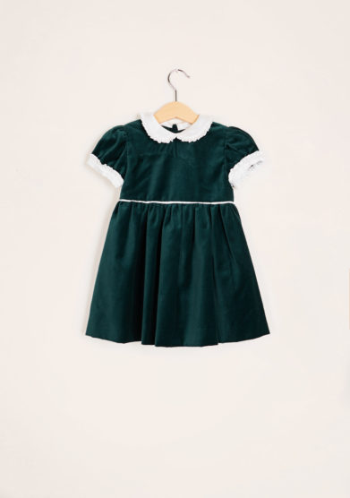 BARONI - Velvet dress with bow