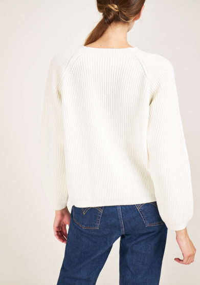 ALYKI - English ribbed knit wool and cashmere-blend sweater