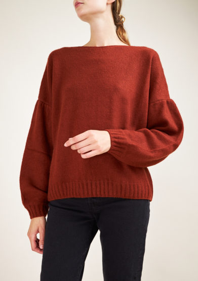 ALYKI - Silk and cashmere-blend brick sweater