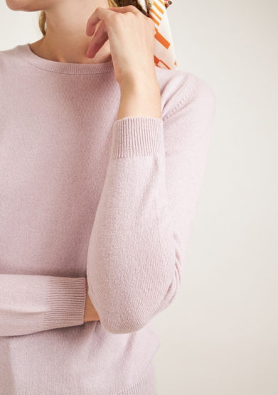 ALYKI - Soft pink cashmere sweater