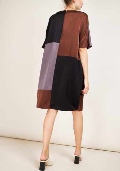 STEPHAN JANSON - Maps patchwork cadì dress