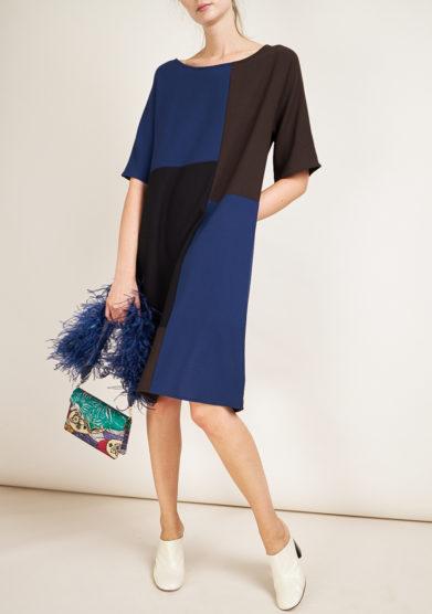 STEPHAN JANSON - Maps patchwork wool dress