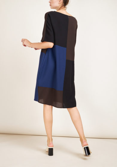STEPHAN JANSON - Maps patchwork wool dress