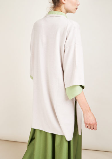 ALYKI - Ice cashmere cardigan with three quarter sleeves