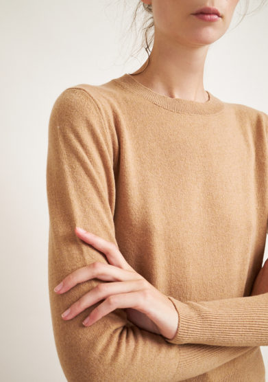 ALYKI - Wool and cashmere-blend camel sweater