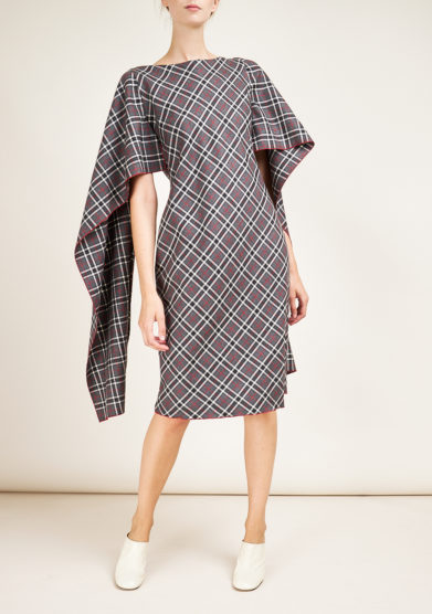 STEPHAN JANSON - Longuette Voiles checked dress