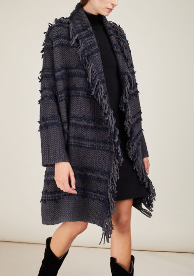 ARCHIVIO B - Fringed woven coat