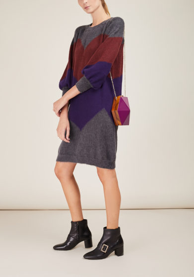 ARCHIVIO B -Grey merino dress