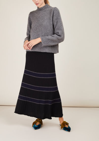 ARCHIVIO B - Long merino wool skirt