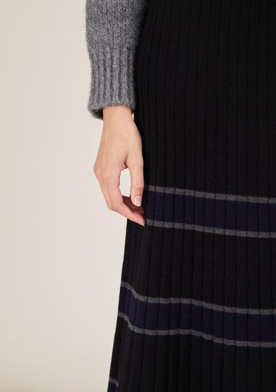 ARCHIVIO B - Long merino wool skirt