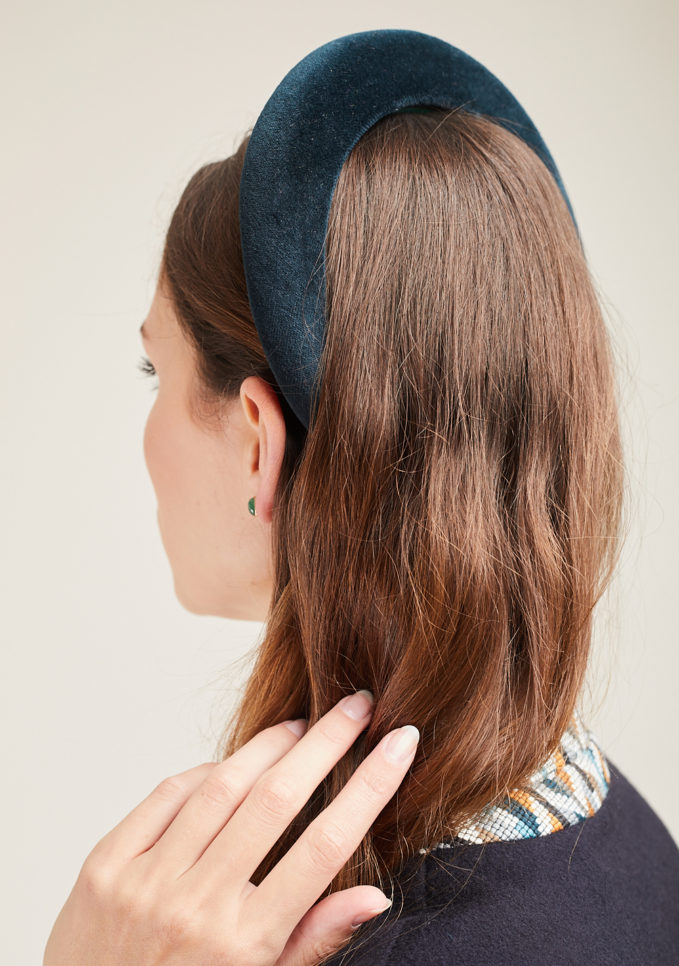 BLUETIFUL MILANO - Green velvet headband