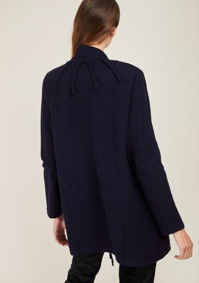 ARCHIVIO B - Blue fringed wool cardigan