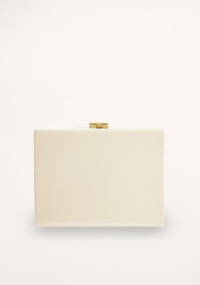 VIRGINIA SEVERINI - Cleo cream wood clutch