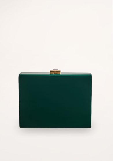 VIRGINIA SEVERINI - Cleo green wood clutch