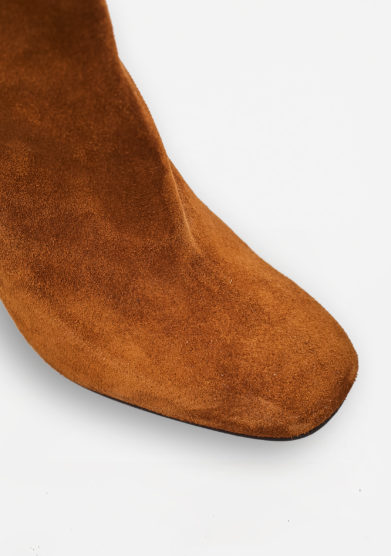 PAOLA D'ARCANO - Suede ankle boots with heel