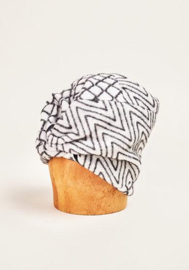 Altalen - Black and white wool turban