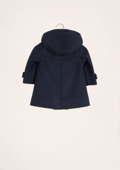 BARONI - Blu loden coat with hood
