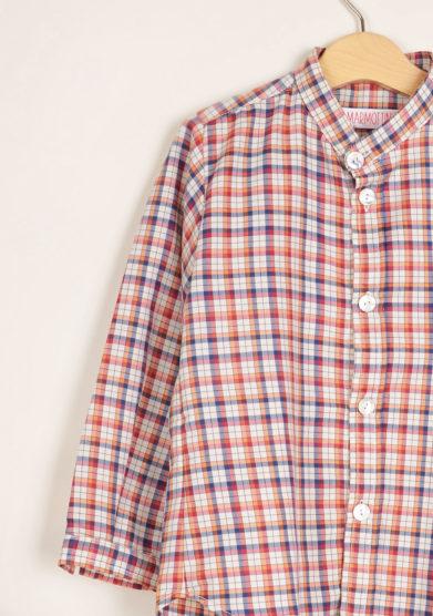 I MARMOTTINI - Boy's Giramondo mandarin collar shirt