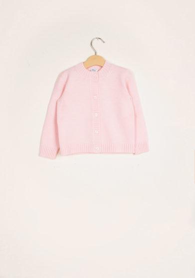 BARONI - Pink wool cardigan