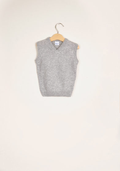 BARONI - Grey wool vest