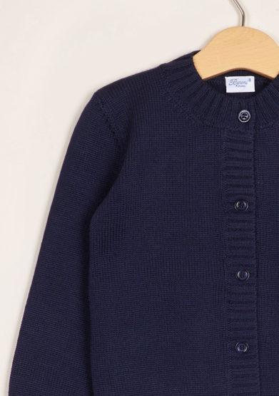 BARONI - Blue wool cardigan