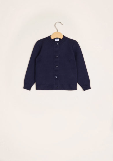 BARONI - Blue wool cardigan