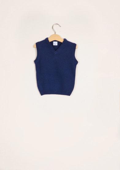 BARONI - Blue wool vest