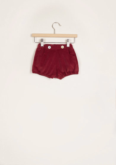 I MARMOTTINI - Bordeaux ribbed velvet bloomers