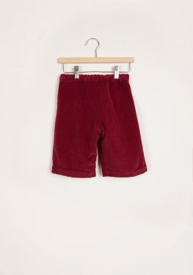 I MARMOTTINI - Bordeaux ribbed velvet shorts
