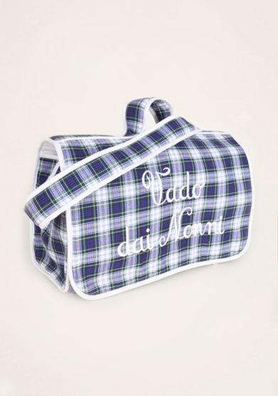 BARONI - Vado dai nonni blue tartan bag