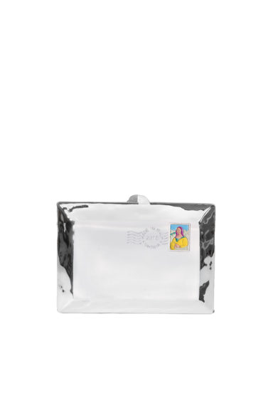 Virginia severini clutch love letter metallica argento