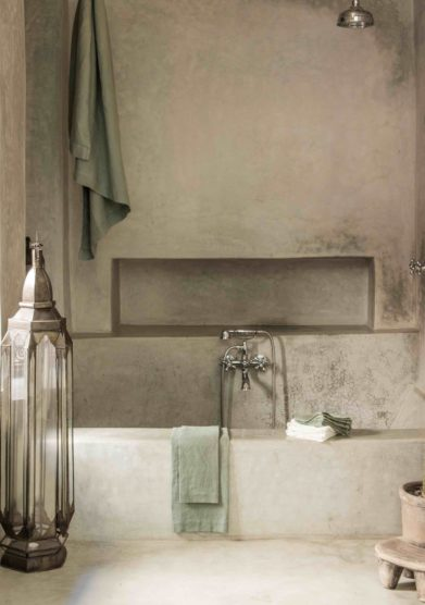 ONCE MILANO - Sage linen bath towel set