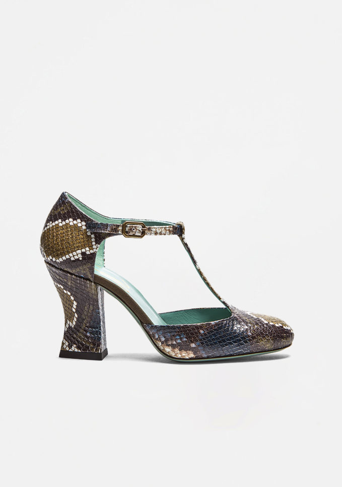 PAOLA D'ARCANO - Printed leather pumps