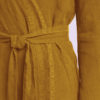 ONCE MILANO - Mustard linen dressing gown
