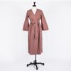 ONCE MILANO - Vintage pink linen dressing gown