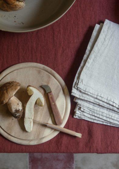 ONCE MILANO - Set of 2 cream linen napkins