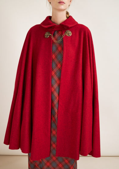 TABARRO SAN MARCO - Red wool Tabarro