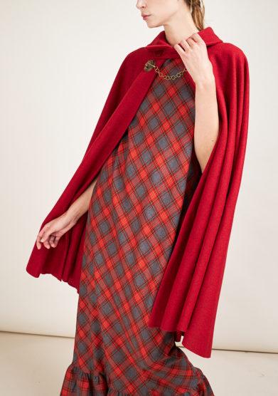 TABARRO SAN MARCO - Red wool Tabarro
