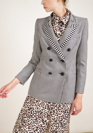 NASCO UNICO - Houndstooth wool blazer