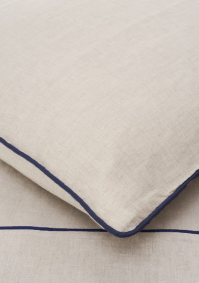 ONCE MILANO - Pillowcase with blue piping