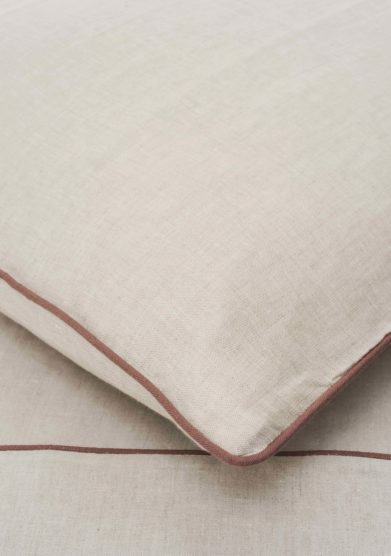 ONCE MILANO - Pillowcase with vintage pink piping