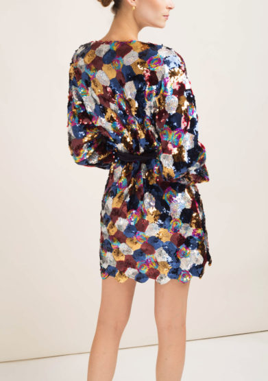 CAFTANII FIRENZE - Sequined minidress