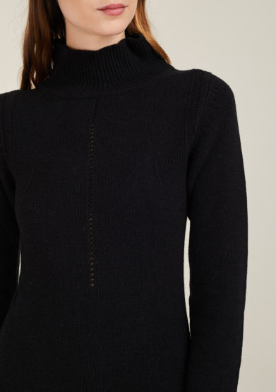IRREPLACEABLE ELISA GIORDANO - Wool and cashmere-blend Boston dress