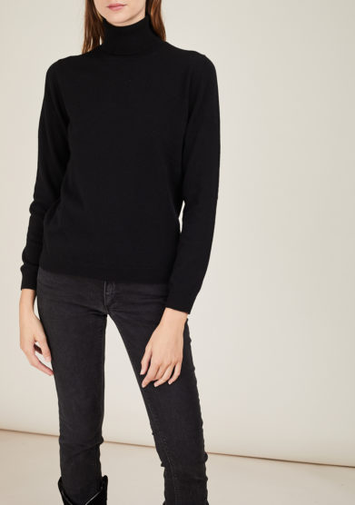 IRREPLACEABLE ELISA GIORDANO - Black cashmere turtleneck sweater