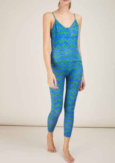 FREI UND APPLE - Beirut frei chevron blue and green printed body
