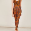 FREI UND APPLE - Beirut indian tiger orange and black printed body