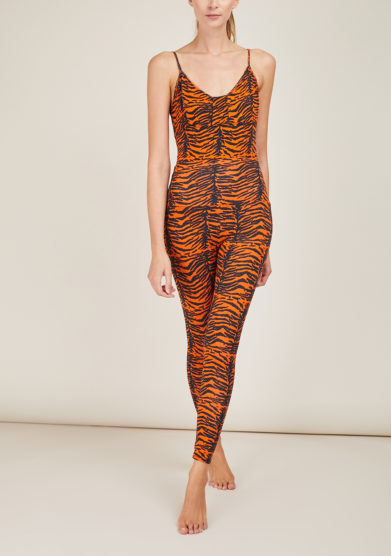 FREI UND APPLE - Beirut indian tiger orange and black printed body