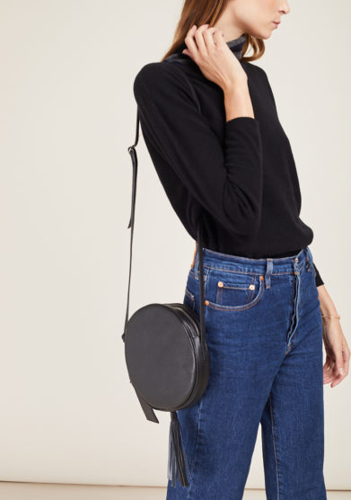 FUNKY MAMA - Pearl black leather bag
